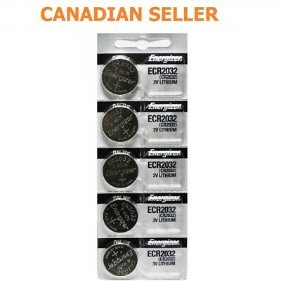 Lot x 5 Pcs ENERGIZER CR2032 ECR2032 Original 3V Lithium Battery EXP:2025