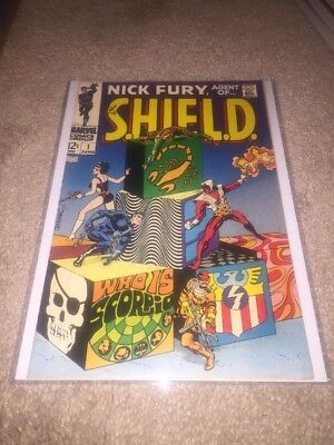 Nick Fury Agent of SHIELD #1 Marvel Comics 1968 Steranko Who Is Scorpio VF/NM