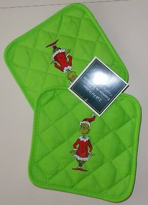The Grinch Green Potholder Set Dr. Seuss How The Grinch Stole Christmas
