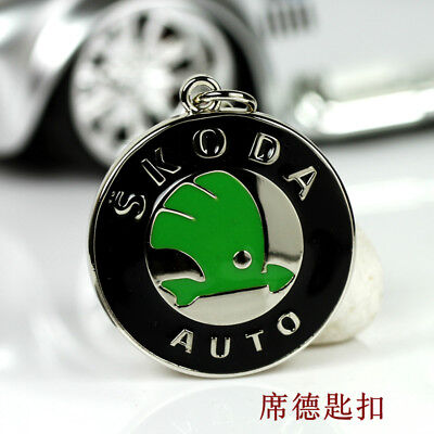 Metal Key Chain Car Logo Keyring Pendant Ring Accessories Keychain Skoda