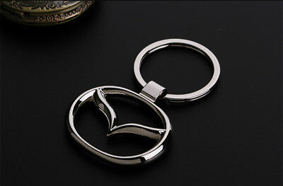 Metal Key Chain Car Logo Keyring Pendant Ring Accessories Keychain Mazda