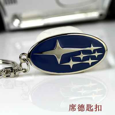 Metal Key Chain Car Logo Keyring Pendant Ring Accessories Keychain Subaru