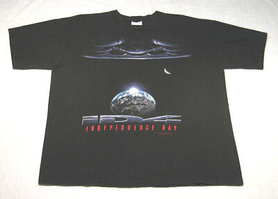 Vintage INDEPENDENCE DAY Movie T-Shirt (1996) Stanley Desantis WILL SMITH! XL