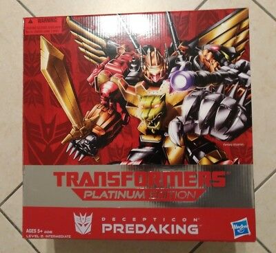 Transformers Predaking Platinum Edition Nuovo Mint in Box MISB