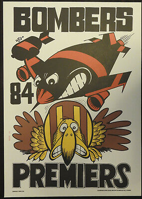 1984 Essendon Limited Edition Weg Premiers poster Bombers