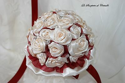 Bouquet Gioiello Sposa Rose In Raso