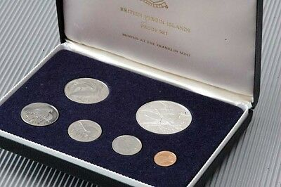 First Coinage of the BRITISH VIRGIN ISLANDS 1973 PROOF SET w/ certificate