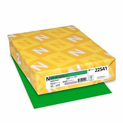 500 Colored Writing Copy Paper Sheets Printer Fax Office Accessories - Green