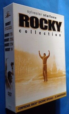 ROCKY collection EDIZIONE SPECIALE 25° anniversario cofanetto 5 film DVD