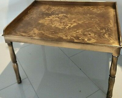 Unusual Low table - card table (?)  - antique looking