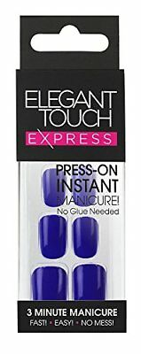 Elegant Touch Express Polished Ongles Pré-encollée Bright Navy