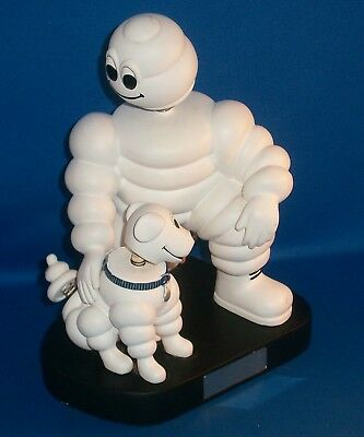 Michelin Man With Dog Bobble-head Advertising Figure