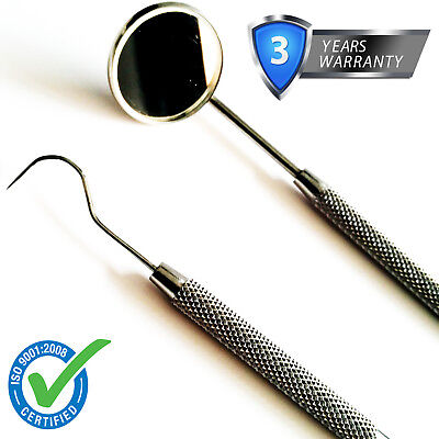 Dental Dentist Mouth Mirror and Probe Hygiene Examination Cleaning Kit Set, CE*