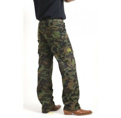 new DRAGGIN JEANS mens green camo cargo pants size 42 waist 107 RRP $249