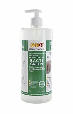 Green For Health Bactigreen Solution Hydroalcoolique Flacon Pompe de 1 L