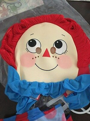 Raggedy Ann Vintage Child Size (Med) Costume Brand New Never Used 1991 Mcmillian