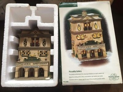 """Department 56 Dickens Village Series """"Piccadilly Gallery"""" #56.58498 GREAT SHAPE"""