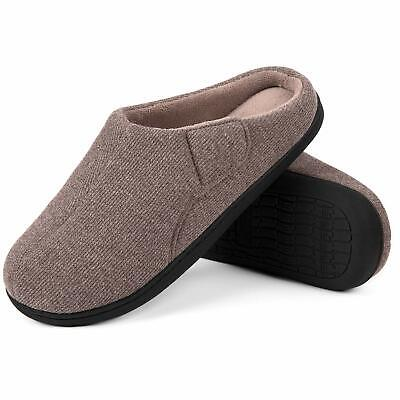 Men's Faux Suede Ultra Soft Fabric Grids Clog Slippers 13 D(M) US,Black