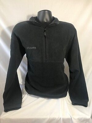 COLUMBIA mens 100% Polyester Solid Black Full-Zip Jacket size XL EUC