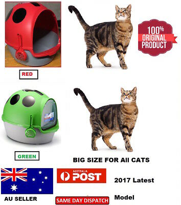 New Toilet Litter Tray Box House - Scoop Portable Carrier with Handle for Cat au