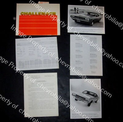 1971 DODGE CHALLENGER PRESS KIT Press Photos, Releases SCAT PACK Muscle Car R/T