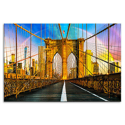 new york brooklyn bridge nacht skyline nyc fu matte t rmatte 60x40cm 94380 eur 14 99. Black Bedroom Furniture Sets. Home Design Ideas