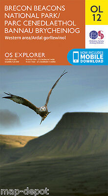 BRECON BEACONS (Western Area) EXPLORER Map - OL12 - OS - Ordnance - inc.DOWNLOAD