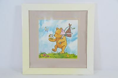 Winnie The Pooh With Piglet Hand Painted Photo On Beige 12X12 Frame On Sale