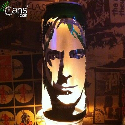 Paul Weller Beer Can Lantern! The Jam, Modfather Pop Art Portrait Candle Lamp