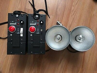 TWO Lumedyne 200w/s Action Packs. Comes with two heads and two battery packs