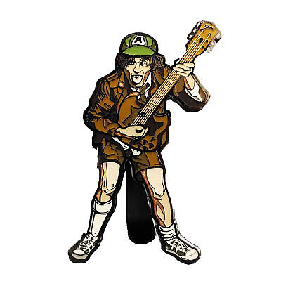 AC/DC Collectible: Handpicked 2017 FiGPiN Angus Young High Voltage Pin & Display