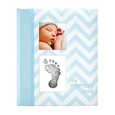 Pearhead Chevron Baby Memory Book with an Included Clean-Touch Ink Pad to Create