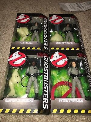 Lot Of 4 New Mattel Ghostbusters Collection Action Figure Egon Ray Peter Winston