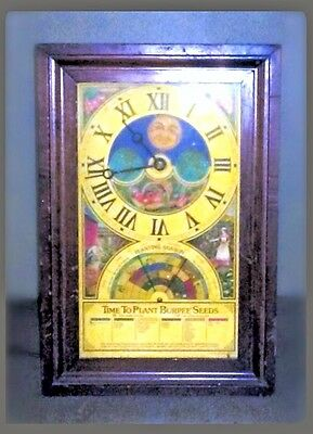Burpee Seeds 1976 Time to Plant Centenial Advertising Electic Clock - Works!