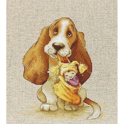 Counted Cross Stitch kit - Basset Hound dog - Luca-S B1121