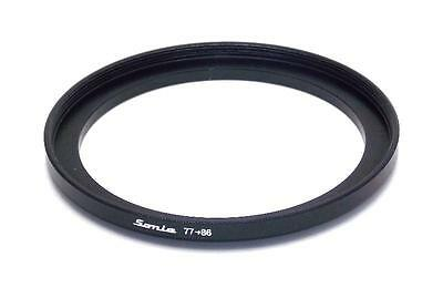 Metal Step up ring 77mm to 86mm 77-86 Sonia New Adapter