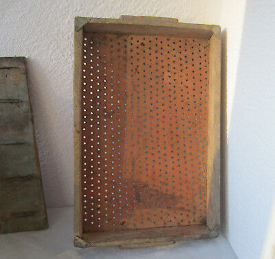 """Large 20+"""" antique primitive handcrafted sieve, screen, sifter, farm tool .. /5/"""