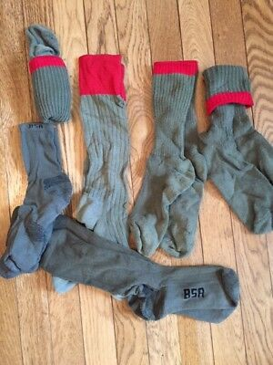 Scout Socks- Boy - Green with Red Band, includes Rare Knee High, Current Ones