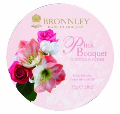 Bronnley, Pink Bouquet, Talco in polvere, 75 g