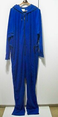 Forever Lazy Soft Fleece Adult One-Piece Lounge Wear Cobalt Blue L/XL - VGUC