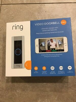 Ring Video Doorbell Pro Wifi 4 Faceplates Night Vision Audio 1080P Hd New Sealed