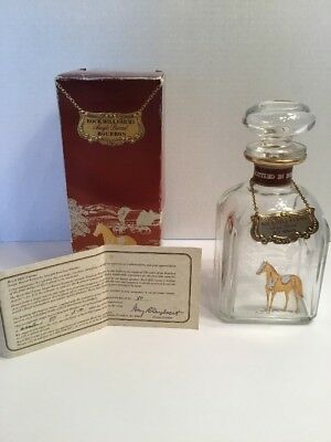 ROCK HILL FARMS Single Barrel Bourbon Collector Bottle Gold Horses Box/Certifica