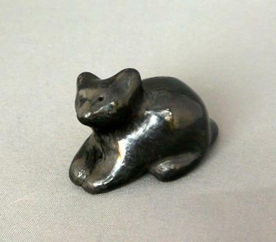Native American Santa Clara Indian Pottery Mini  Cat Paul & Dorothy Gutierrez
