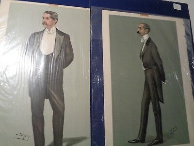 "Two 1899 Vanity Fair Mag. Men's full color FASHION PLATES 9 1/2"" X 14"""