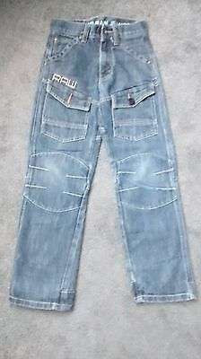 Boys Silver Raw Jeans Size 10-12 Years W24, L26