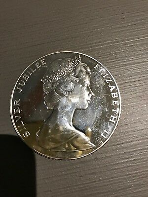 1977 $25 Bermuda Proof Silver Jubilee coin CHI Variety