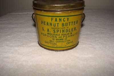 Fancy Peanut Butter Tin By S.A. Spindler, Dayton. Ohio