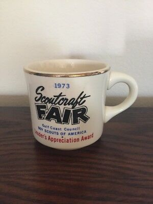 Vintage 1973 Boy Scouts Scoutcraft Fair Leader's Appreciation Coffee Mug Cup