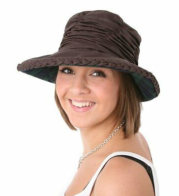 LADIES  ROUCHED WAX COUNTRY  HAT 2 colours, 2 sizes free.fast post 1st class