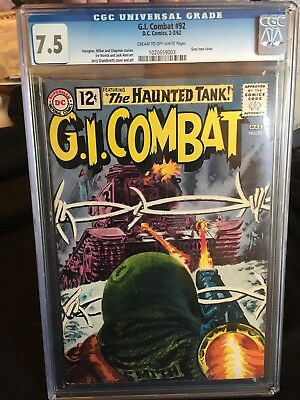 G.I. Combat #92, 1962, VF- 7.5, CGC Cream to off-white pages, Grey tone cover
